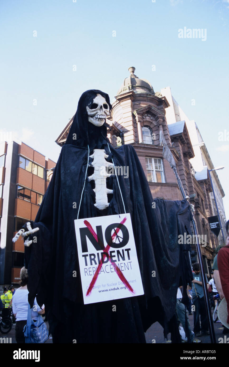 Anti-Nuclear Protester At Rally In Manchester - Stock Image