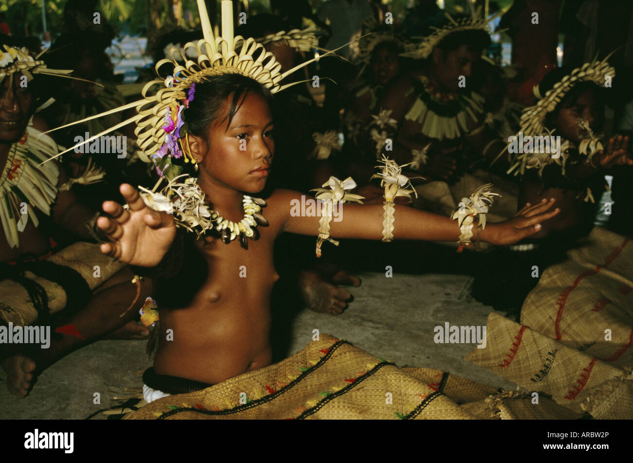 Dancer, Christmas Island, Kiribati, Pacific - Stock Image