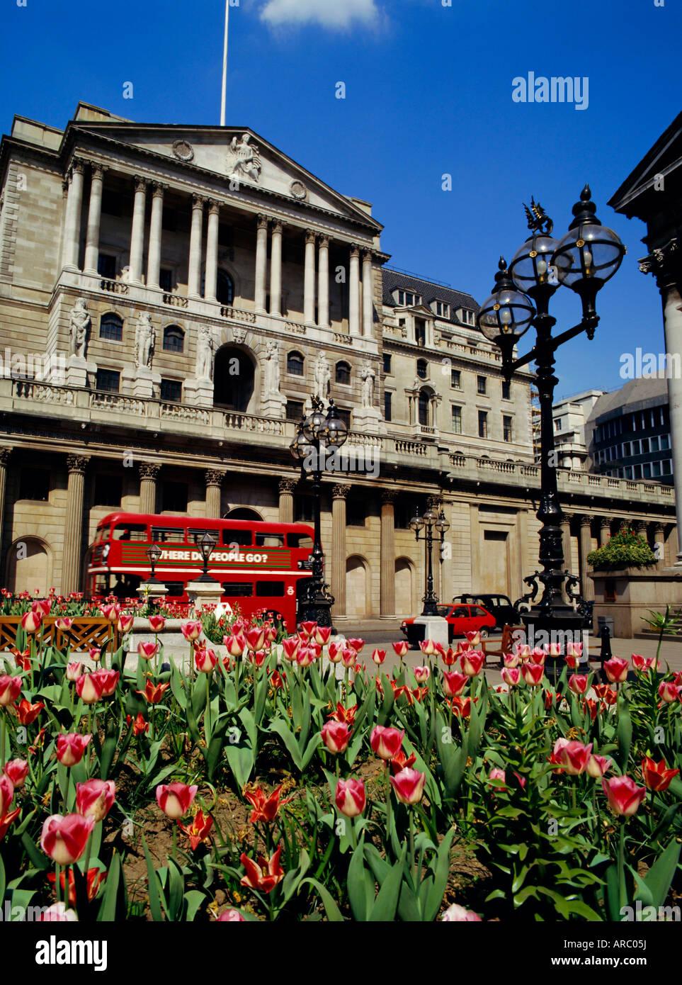 The Bank of England, Threadneedle Street, City of London, England, UK - Stock Image