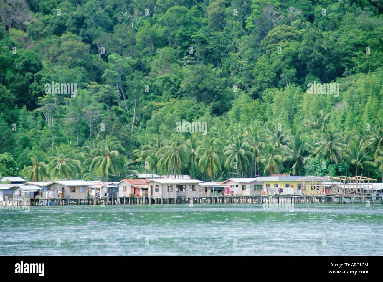 Kota Kinabalu, Sabah, on the island of Borneo, Malaysia - Stock Image