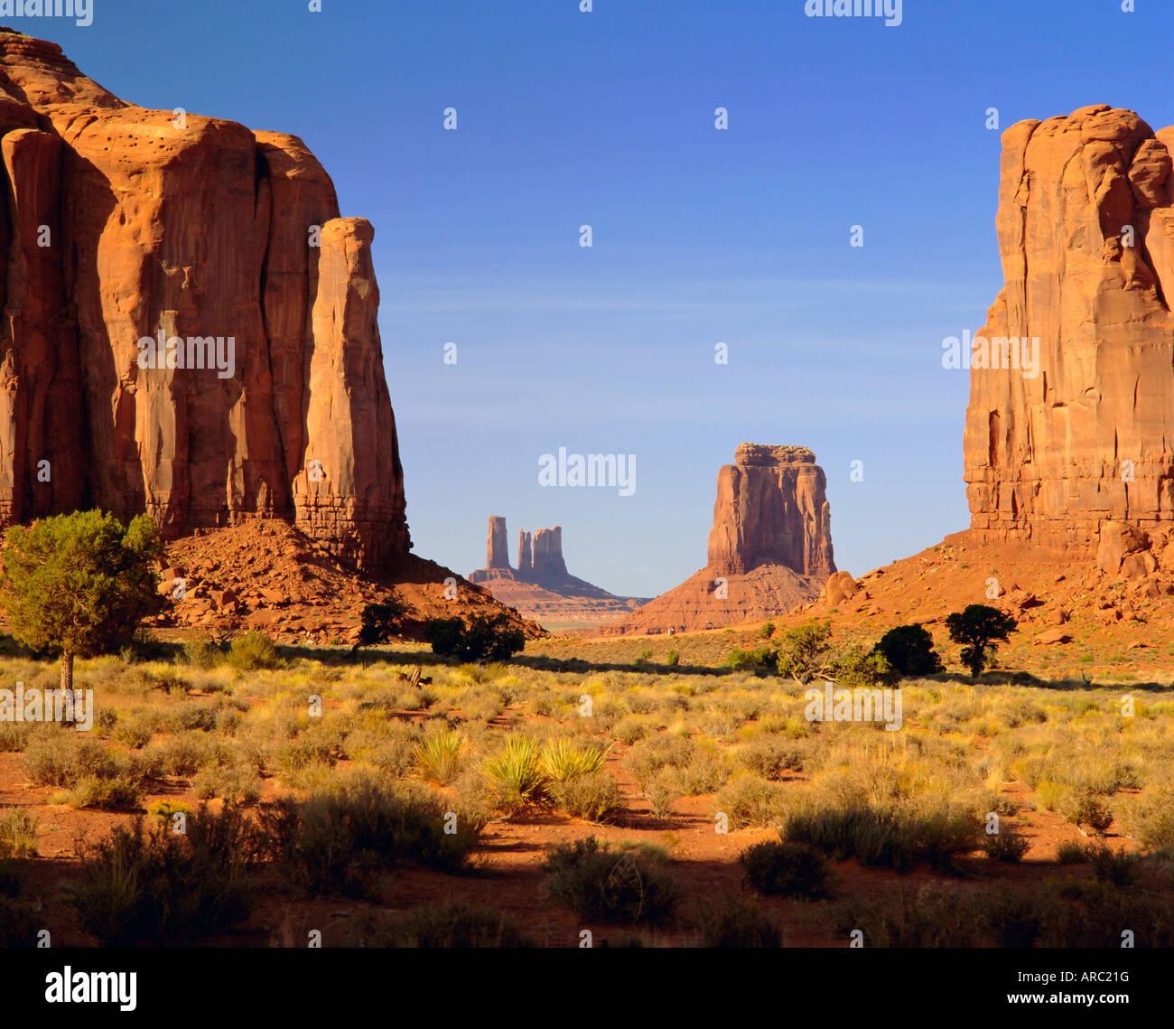 Navajo Tribal Reservation, Monument Valley, Utah/Arizona, USA - Stock Image