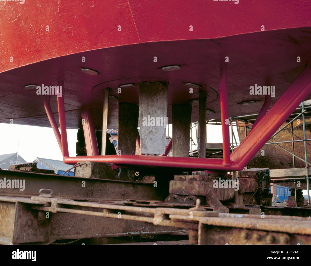 Voith Schneider Propulsion Unit On A Tug In A Ship Repair Yard Stock Photo Alamy