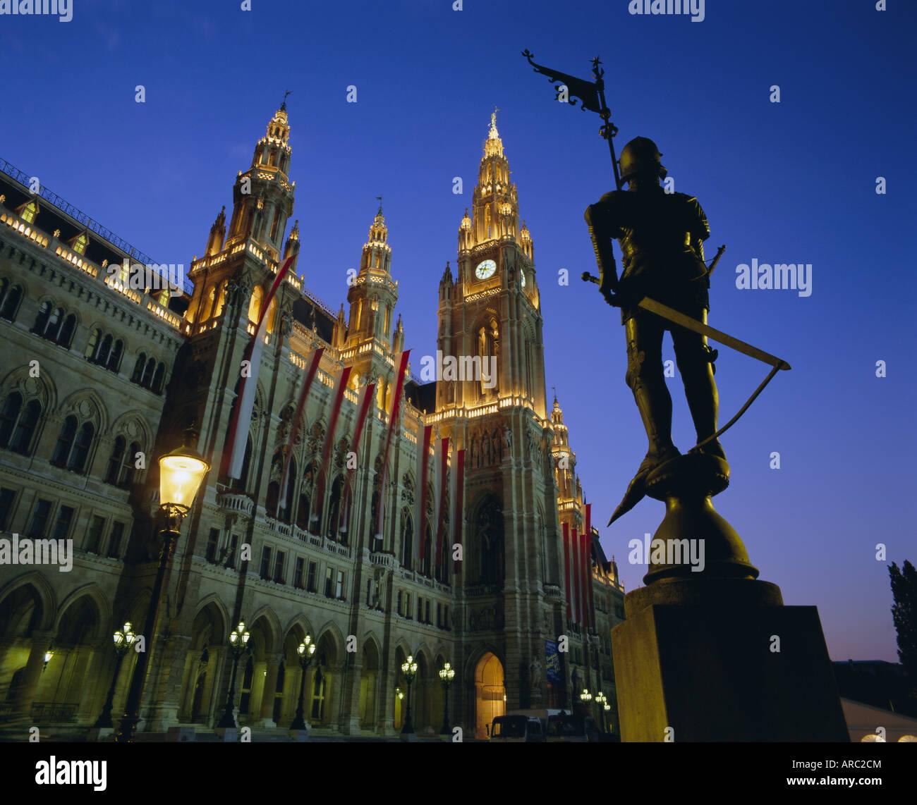 Rathaus (Town Hall), Vienna, Austria, Europe - Stock Image