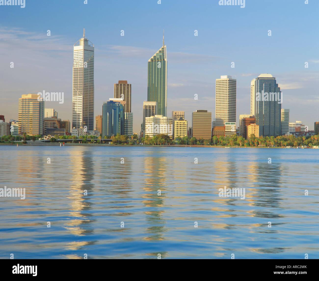 City skyline, Perth, Western Australia, Australia - Stock Image