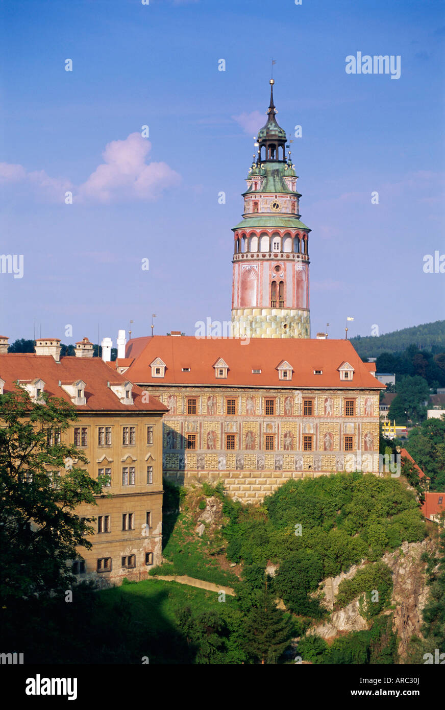 Krumlov Castle, Cesky Krumlov, South Bohemia, Czech Republic, Europe - Stock Image