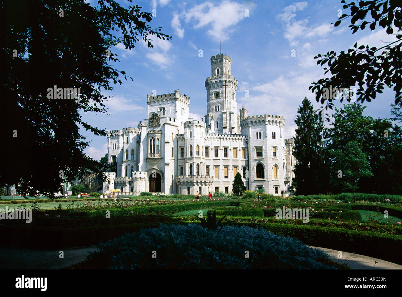 Hluboka Castle, Hluboka, South Bohemia, Czech Republic, Europe - Stock Image