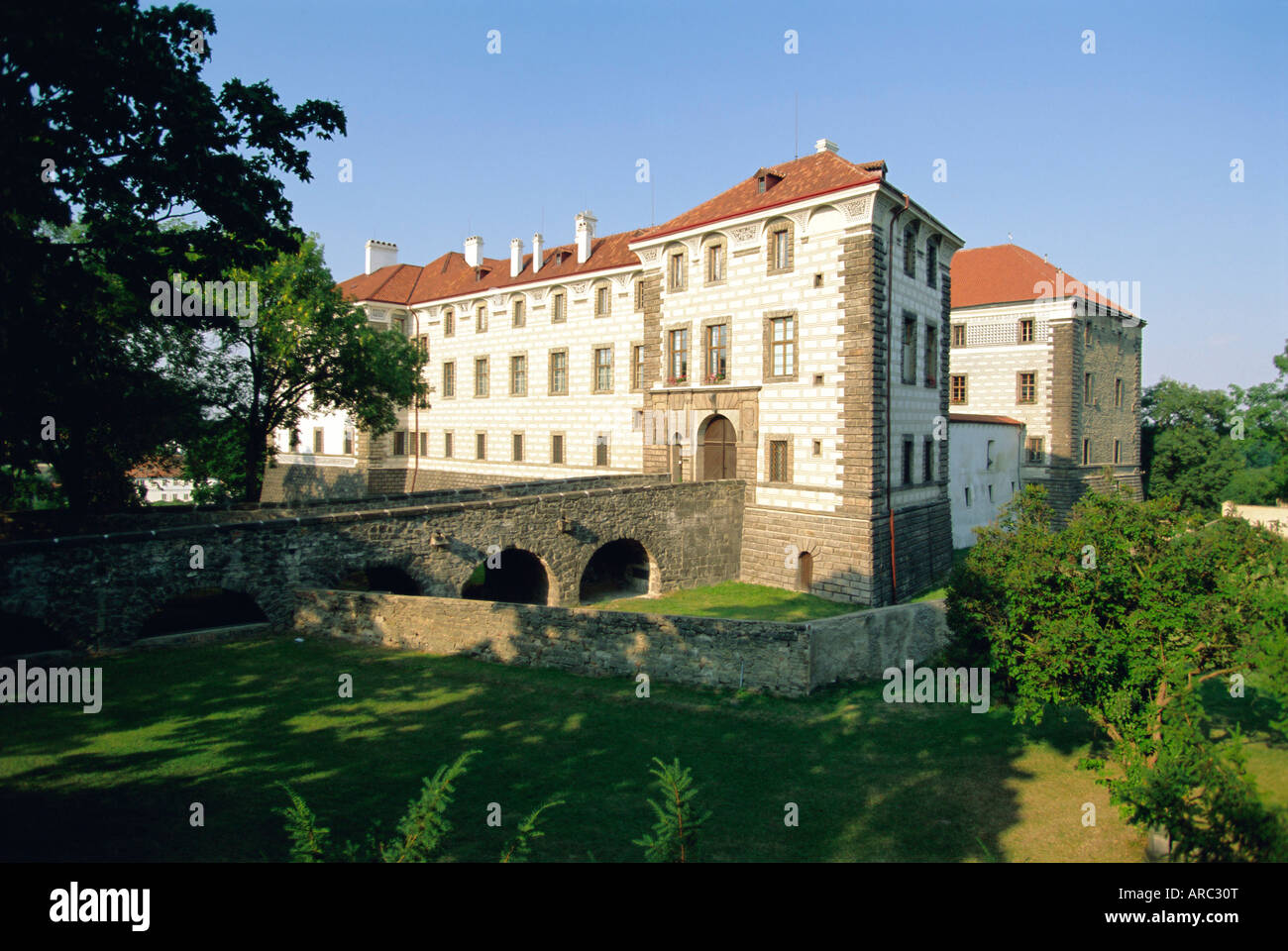 Castle at Nelahozeves, Central Bohemia, Czech Republic, Europe - Stock Image