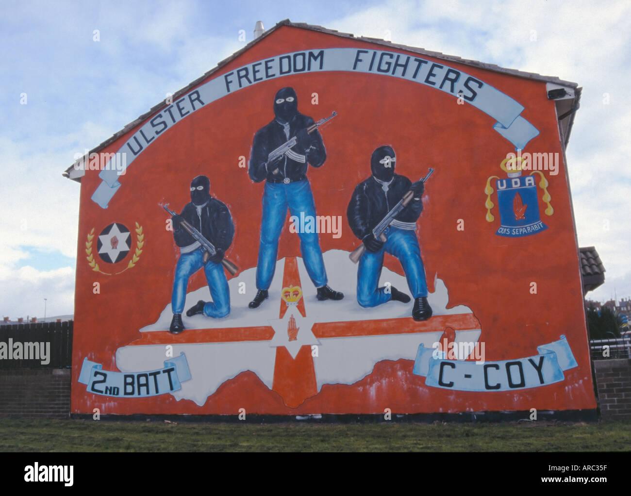 Mural on Shankill Road Belfast Ireland - Stock Image