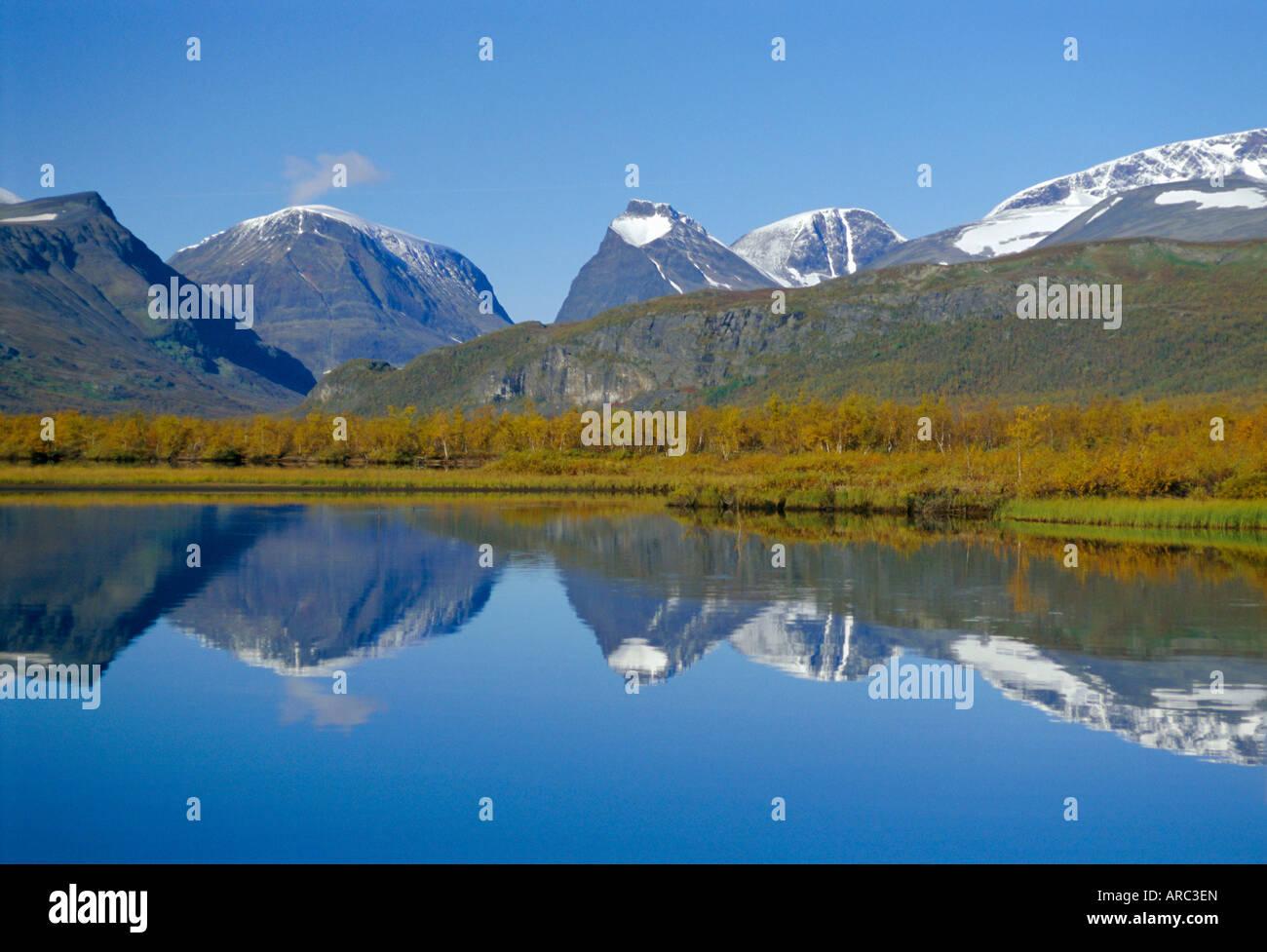 Mt. Kebnekaise, Sweden's highest mountain, (2117m), Laponia World Heritage Site, Lappland, Sweden, Scandinavia, - Stock Image