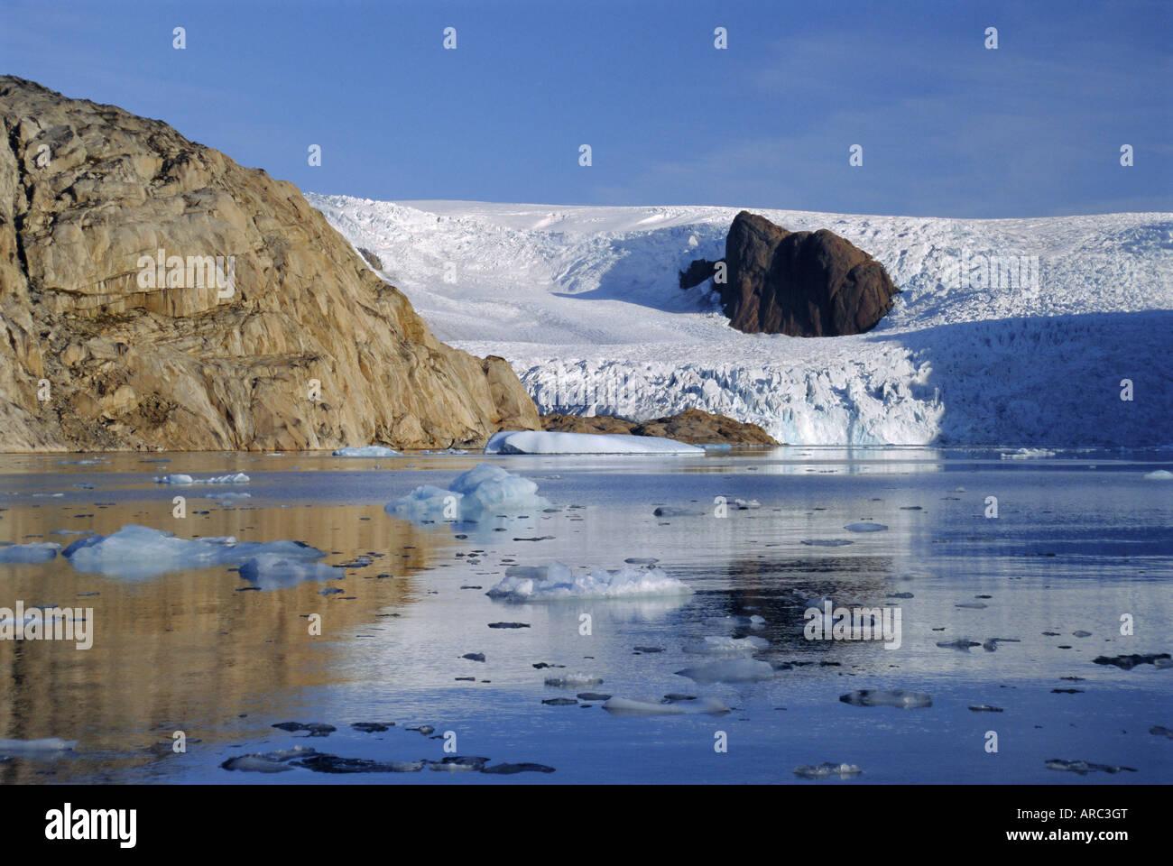 Glacier in Prins Christians Sund, South Greenland, Greenland - Stock Image