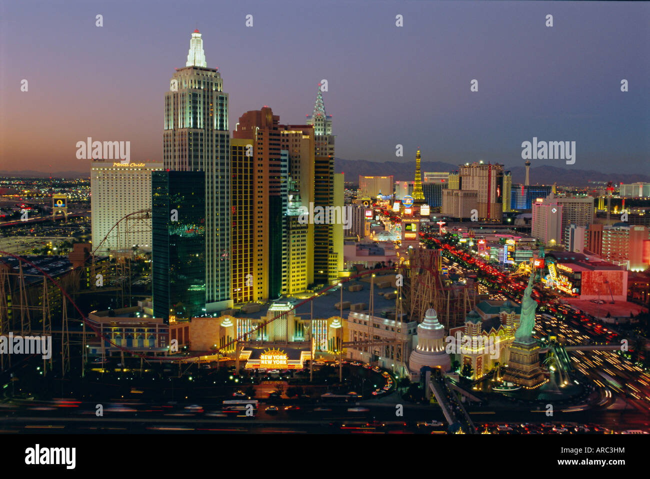 New York, New York Hotel and Casino and the Strip, Las Vegas, Nevada, USA - Stock Image