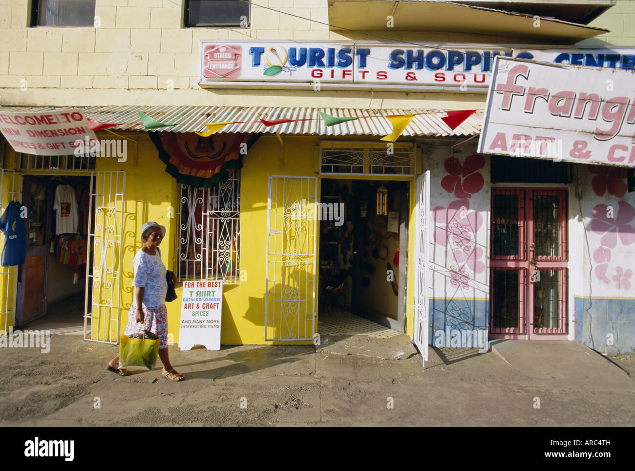 Shop fronts, St. George's, Grenada, Windward Islands, West Indies, Caribbean, Central America - Stock Image