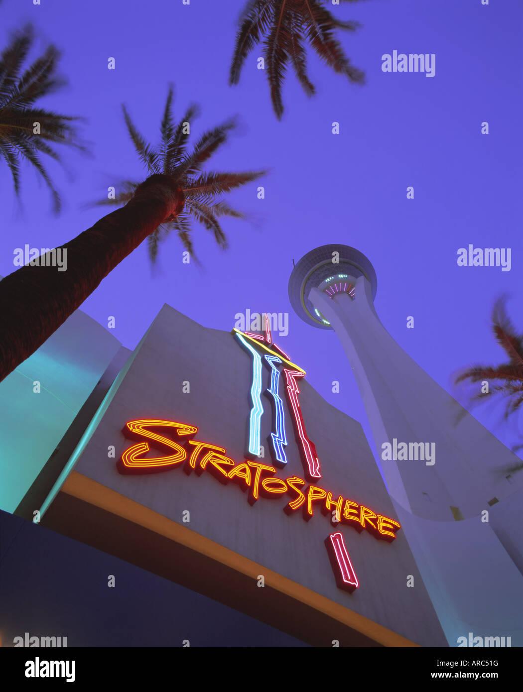 Stratosphere Tower, Las Vegas, Nevada, USA, North America - Stock Image