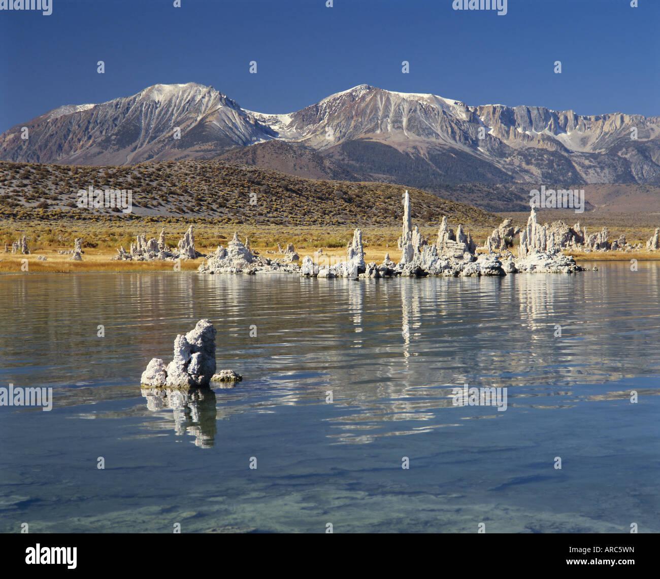 Calcium carbonate tufas, Mono Lake, California, USA, North America - Stock Image