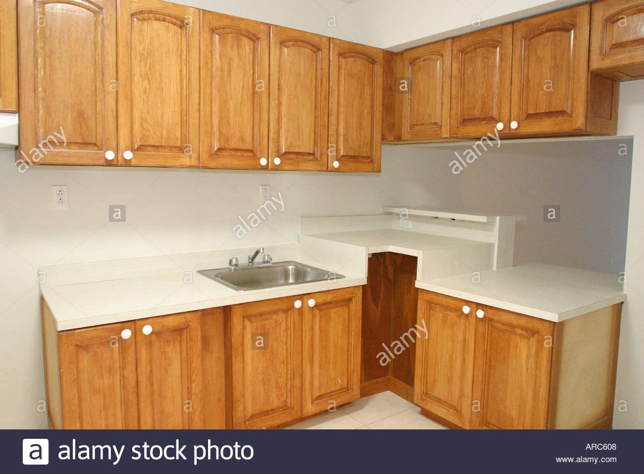 Miami Beach Florida new rental housing for seniors elderly kitchen Stock Photo
