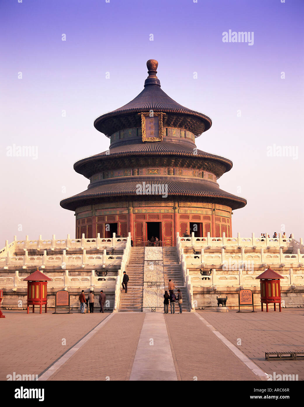 The Hall of Prayer for Good Harvests, Temple of Heaven, Tiantan Gongyuan, UNESCO World Heritage Site, Beijing, China, - Stock Image