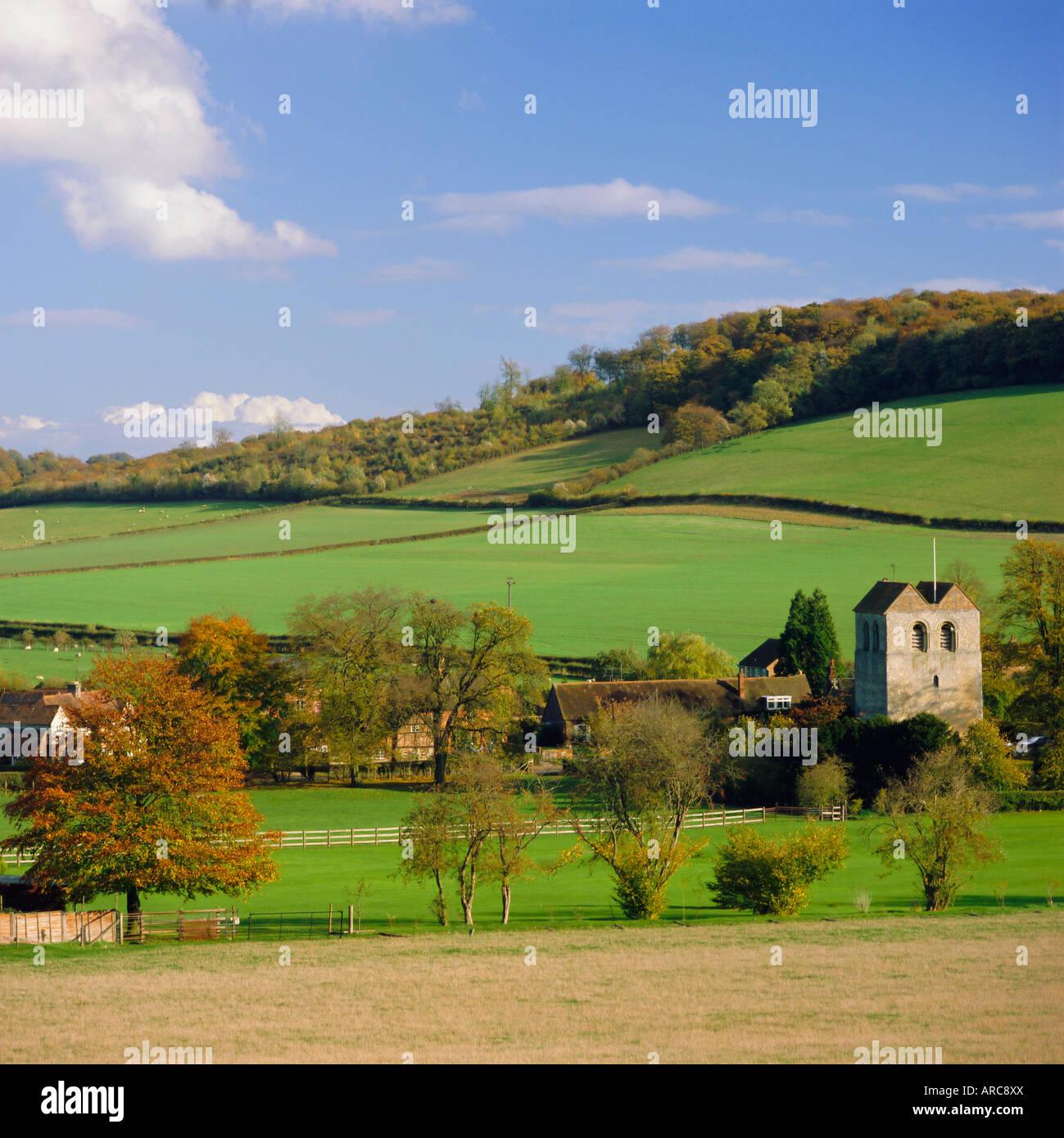 The village of Fingest, the Chilterns, Buckinghamshire, England, UK - Stock Image