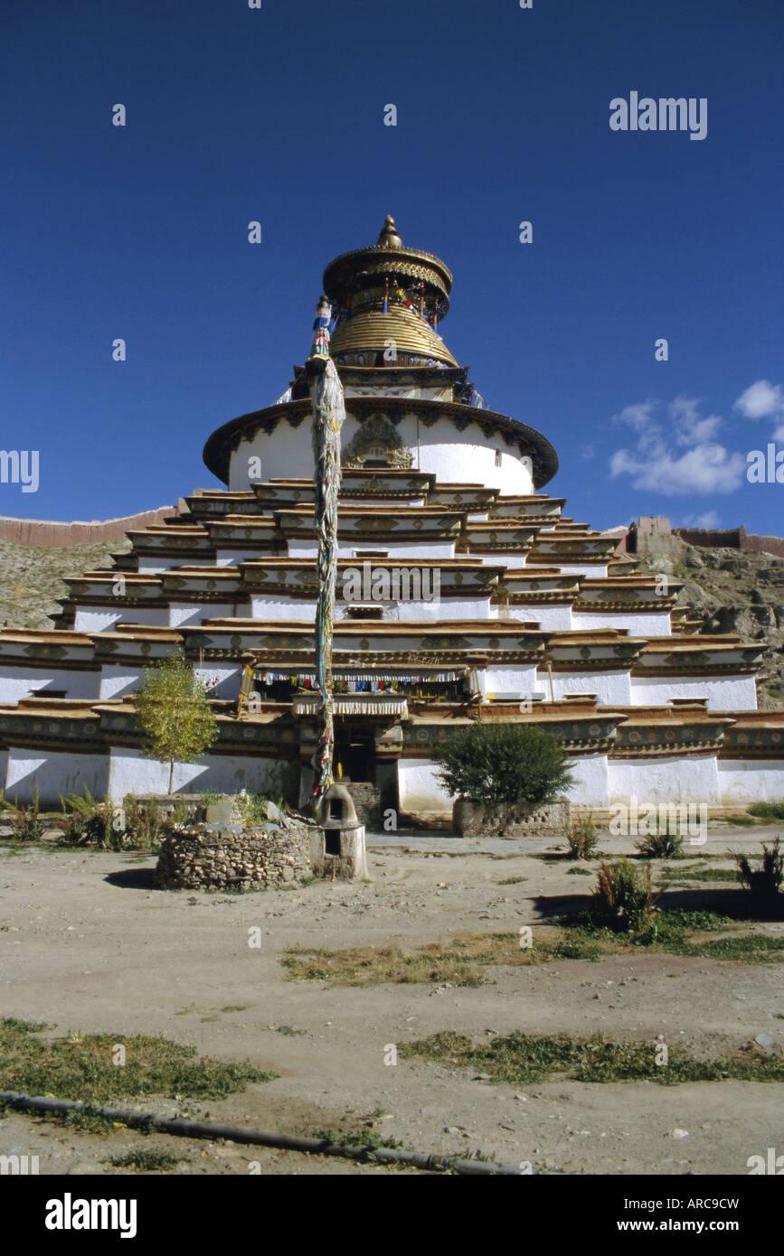 Kumbum stupa, Pelkor Chode monastery, Gyanze (Gyantse), Tibet, China, Asia - Stock Image
