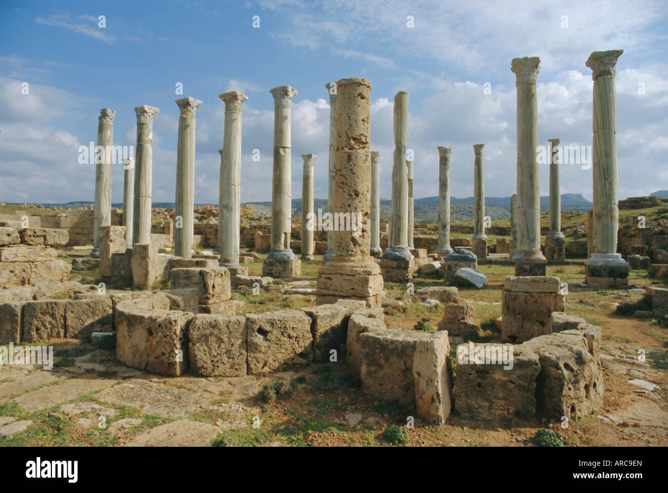 The ancient Greek city of Appolonia, Libya, North Africa - Stock Image