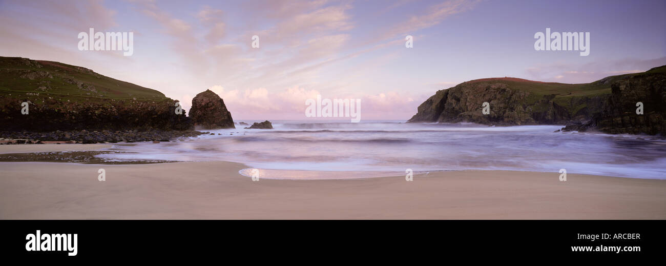 Dawn, Dail Beag, near Carloway, Isle of Lewis, Outer Hebrides, Scotland, United Kingdom, Europe - Stock Image