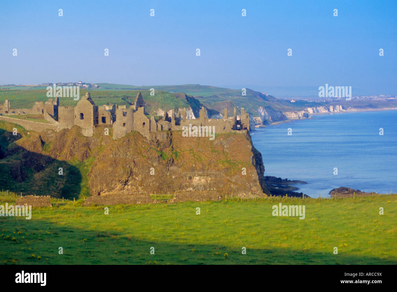 Dunluce Castle, County Antrim, Northern Ireland, UK, Europe Stock Photo