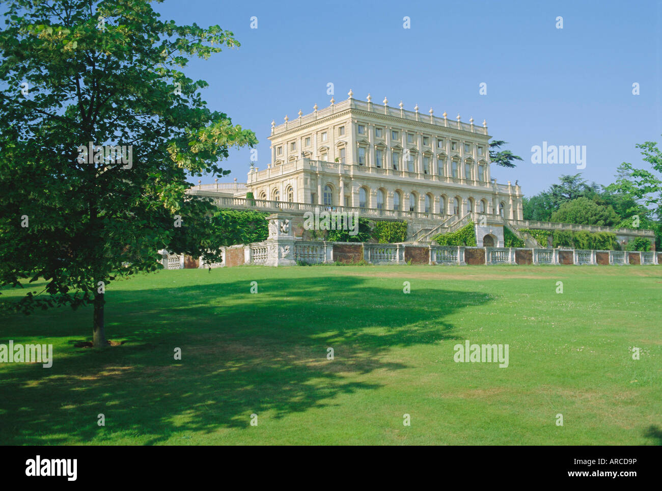 Cliveden House (National Trust), built 1851 by Sir Charles Barry, near Taplow, Buckinghamshire, England, UK - Stock Image