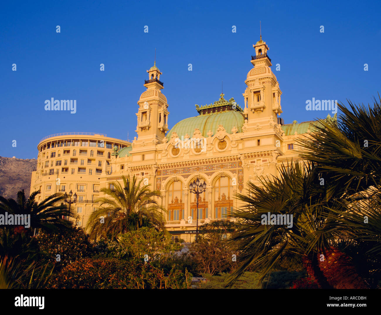 East front of the Casino, Monte Carlo, Monaco, Europe - Stock Image