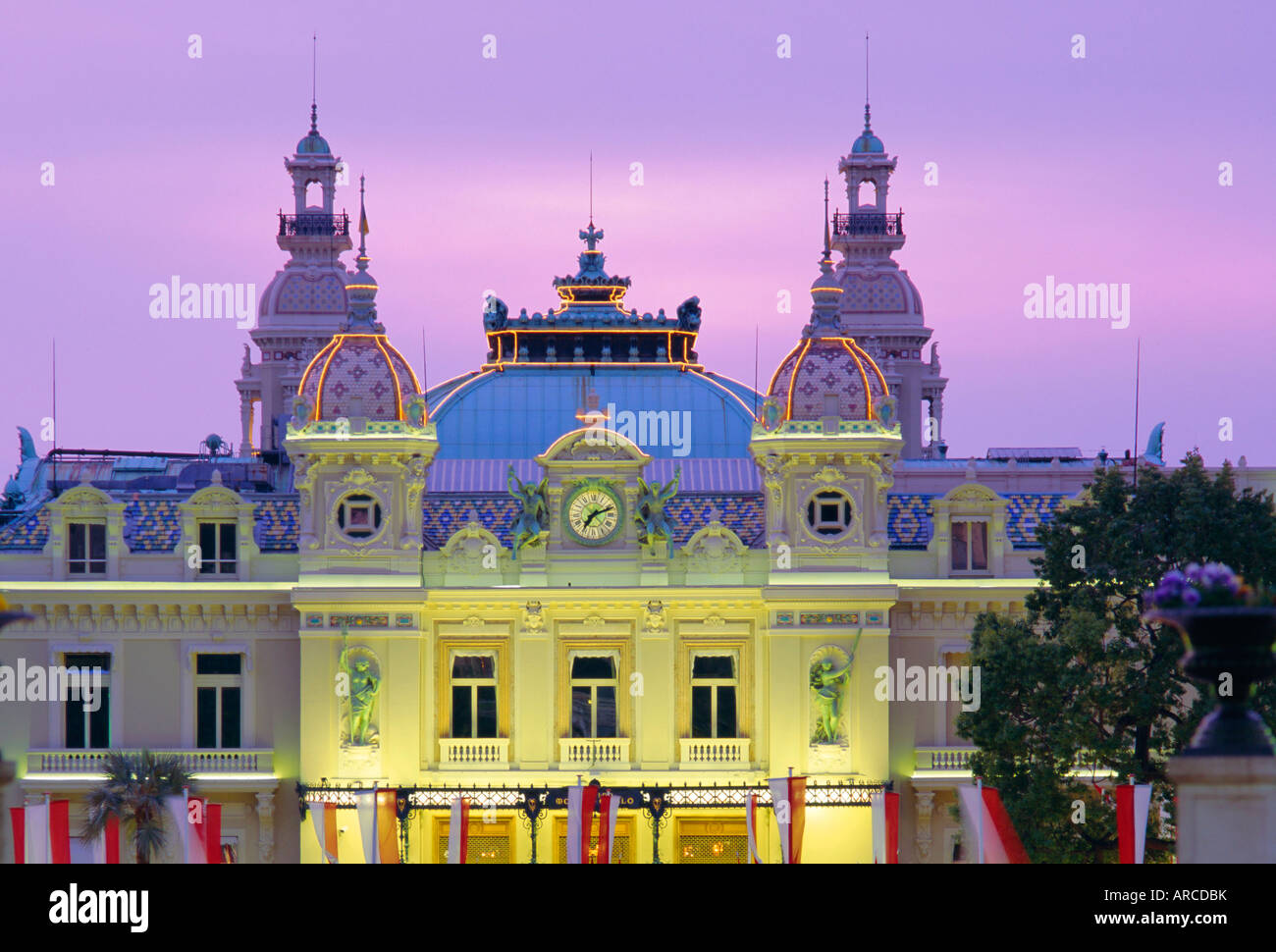 The Casino, west front, Monte Carlo, Monaco, Europe - Stock Image