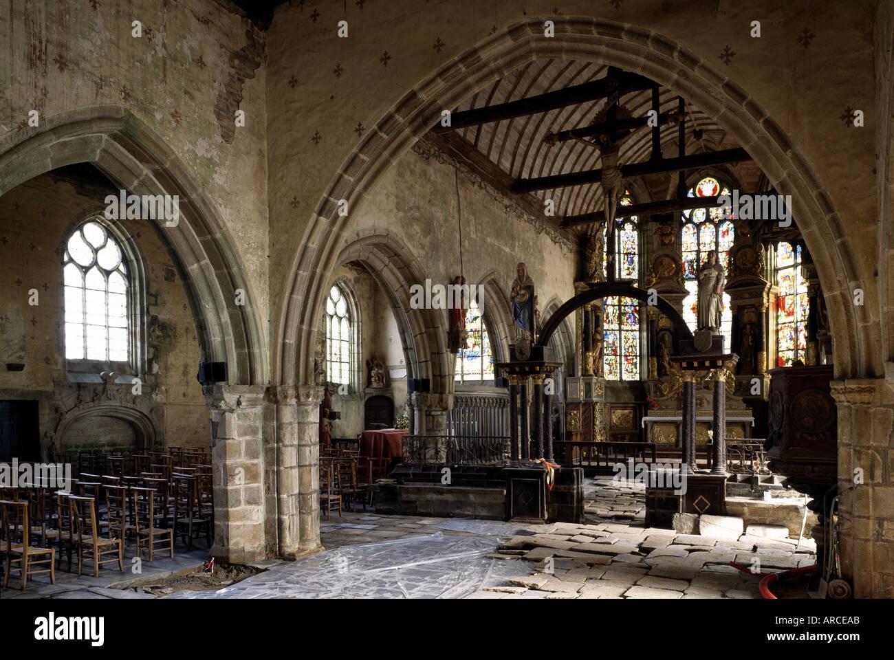 Finistère, La Martyre, Dorfkirche - Stock Image