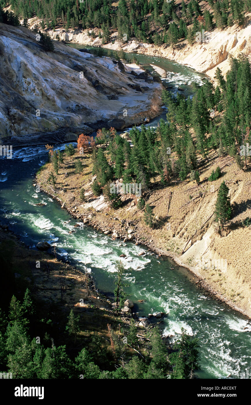 The Yellowstone River Near Tower Roosevelt Junction From The Calcite Stock Photo Alamy