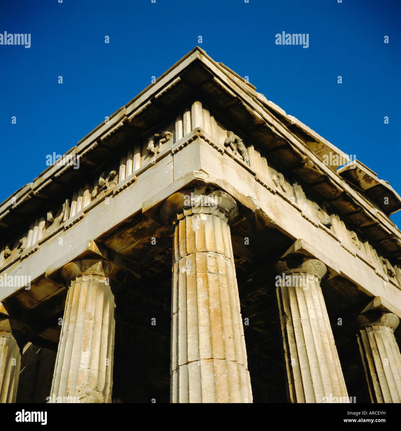 Thisio (Hephastum), 5th century BC, Athens, Greece - Stock Image