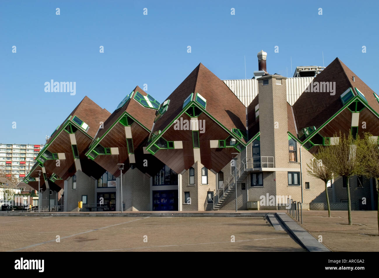 Helmond Architecture Kubus Paalwoningen Piet Blom - Stock Image