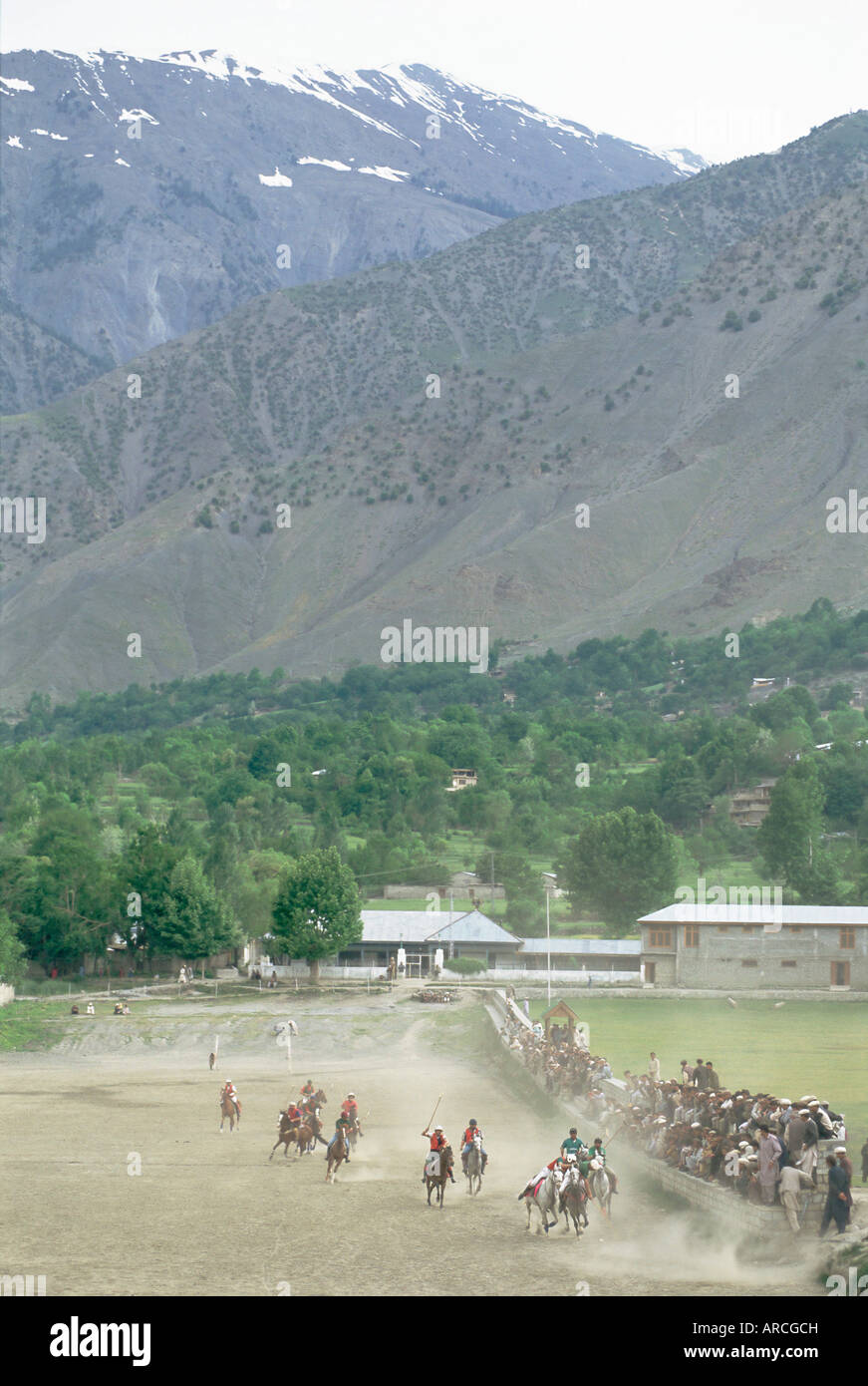 The birthplace of polo, Chitral, North West Frontier Province, Pakistan, Asia - Stock Image