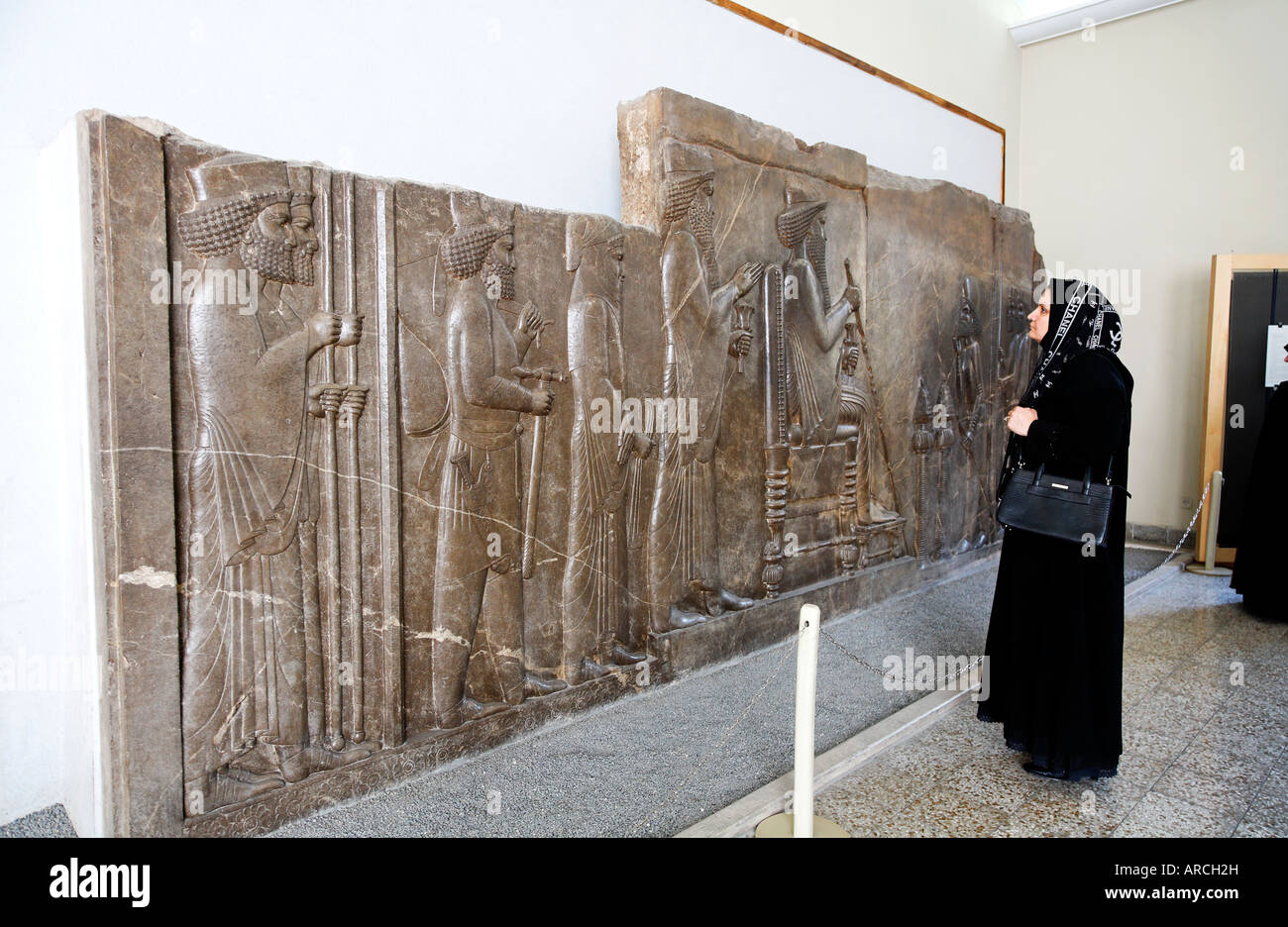Exhibit from Persepolis at the National Archaeological Museum in Tehran Iran Stock Photo