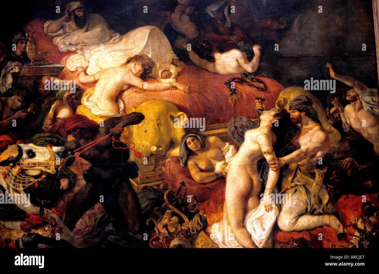 Death of Sardanapalus 1827 by  Ferdinand Victor Eugène Delacroix 1798 – 1863 France French - Stock Image