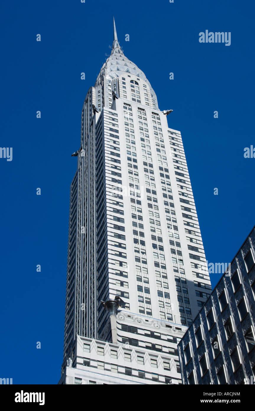 The Chrysler Building, 42nd Street, Manhattan, New York City, New York, United States of America, North America - Stock Image