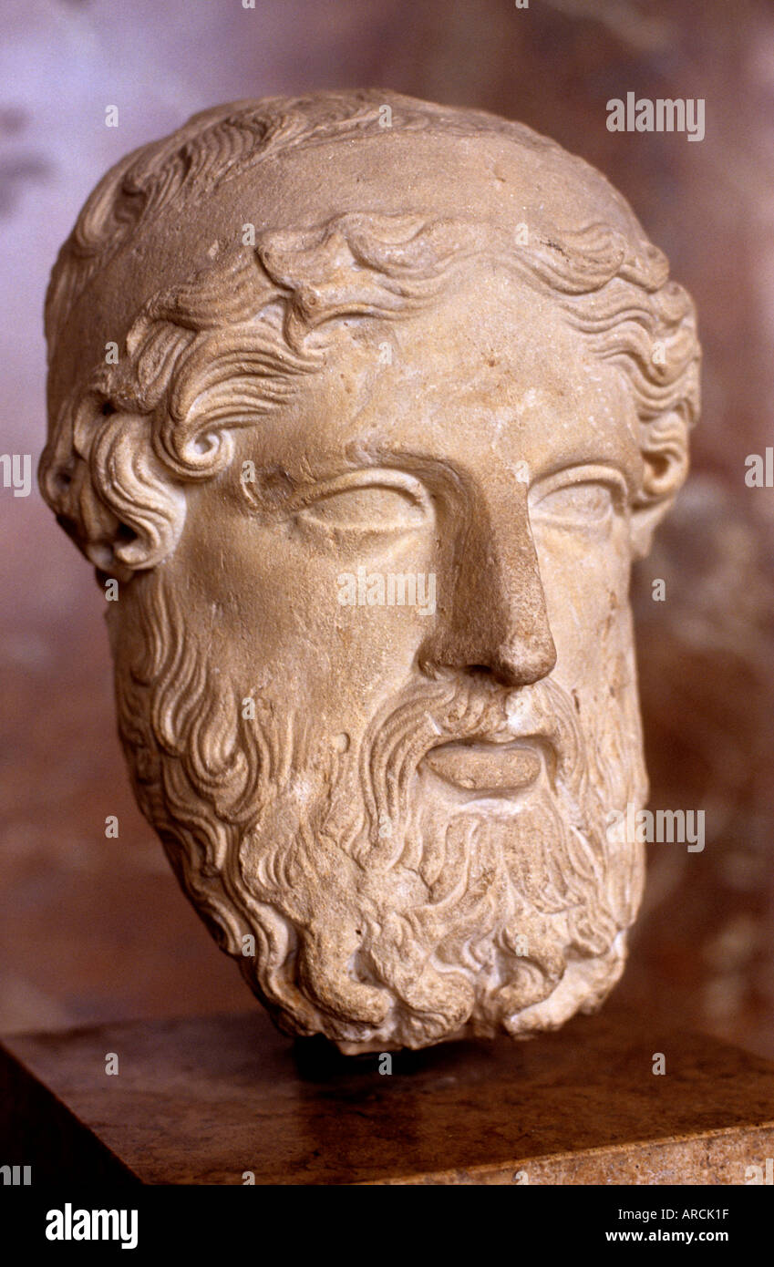 Zeus the ruler of Mount Olympus, and god of the sky and thunder Greek Greece - Stock Image