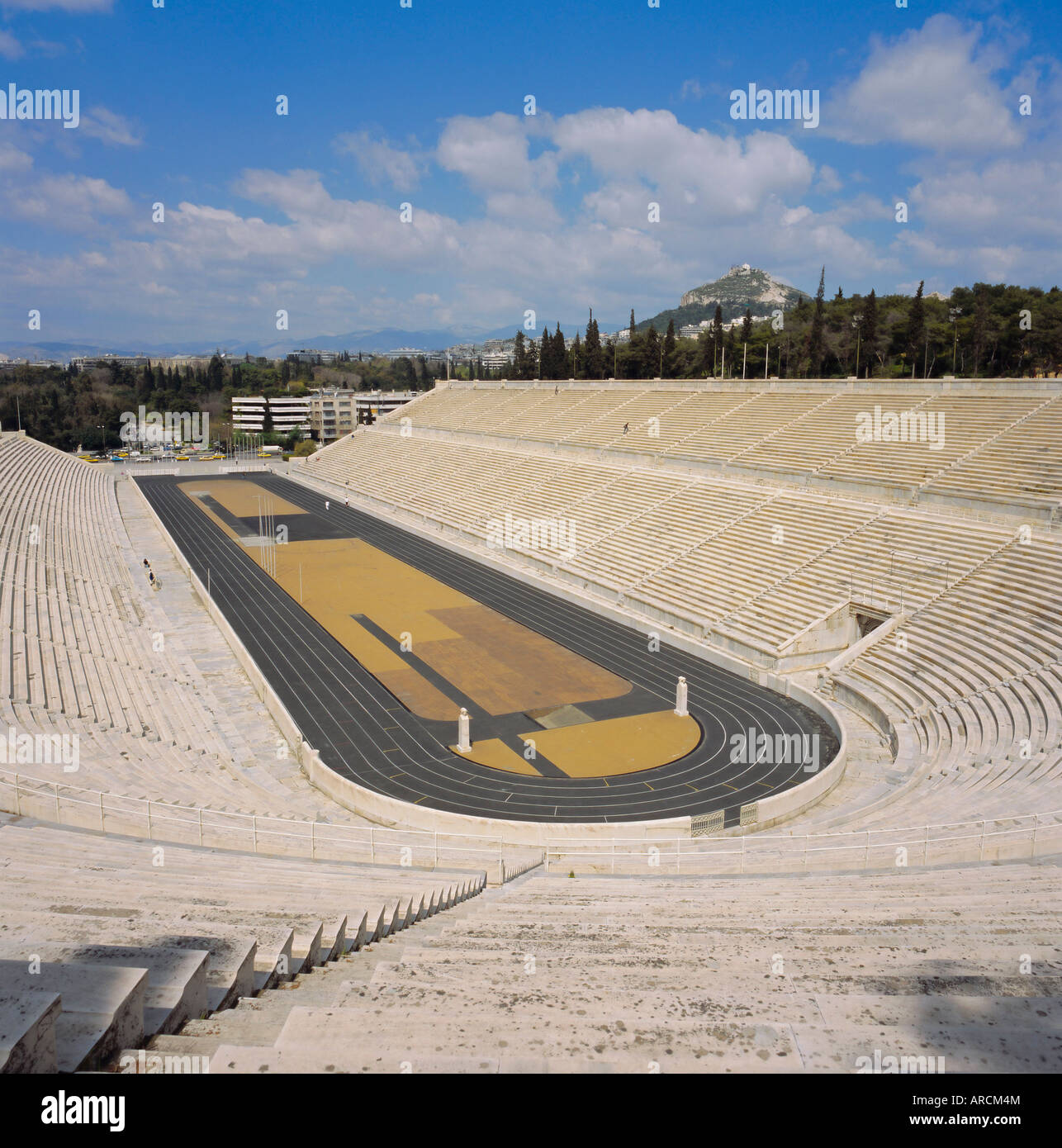 The Stadion, c. 330 BC, restored for the first modern Olympics in 1896, Athens, Greece, Europe - Stock Image