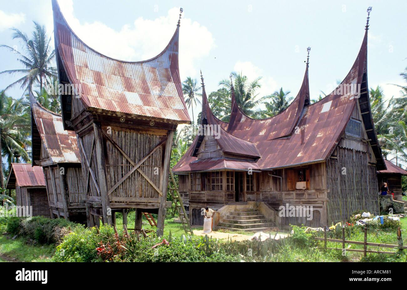 Minangkabau typical, traditional, Minangkabau, house, native Stock Photo: 5227648  Alamy