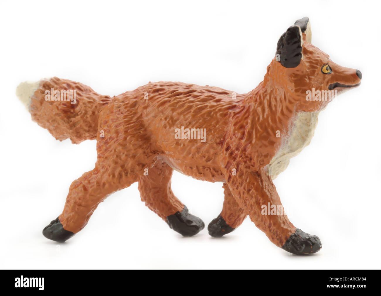 Fox Plastic Farm Zoo Animals Figure Cartoon England Uk United