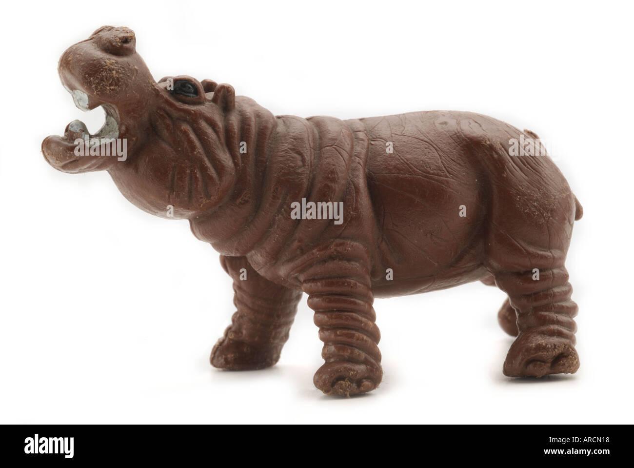 Hippo Hippopotamus Plastic Farm Zoo Animals Figure Cartoon England UK United Kingdom GB Great Britain EU