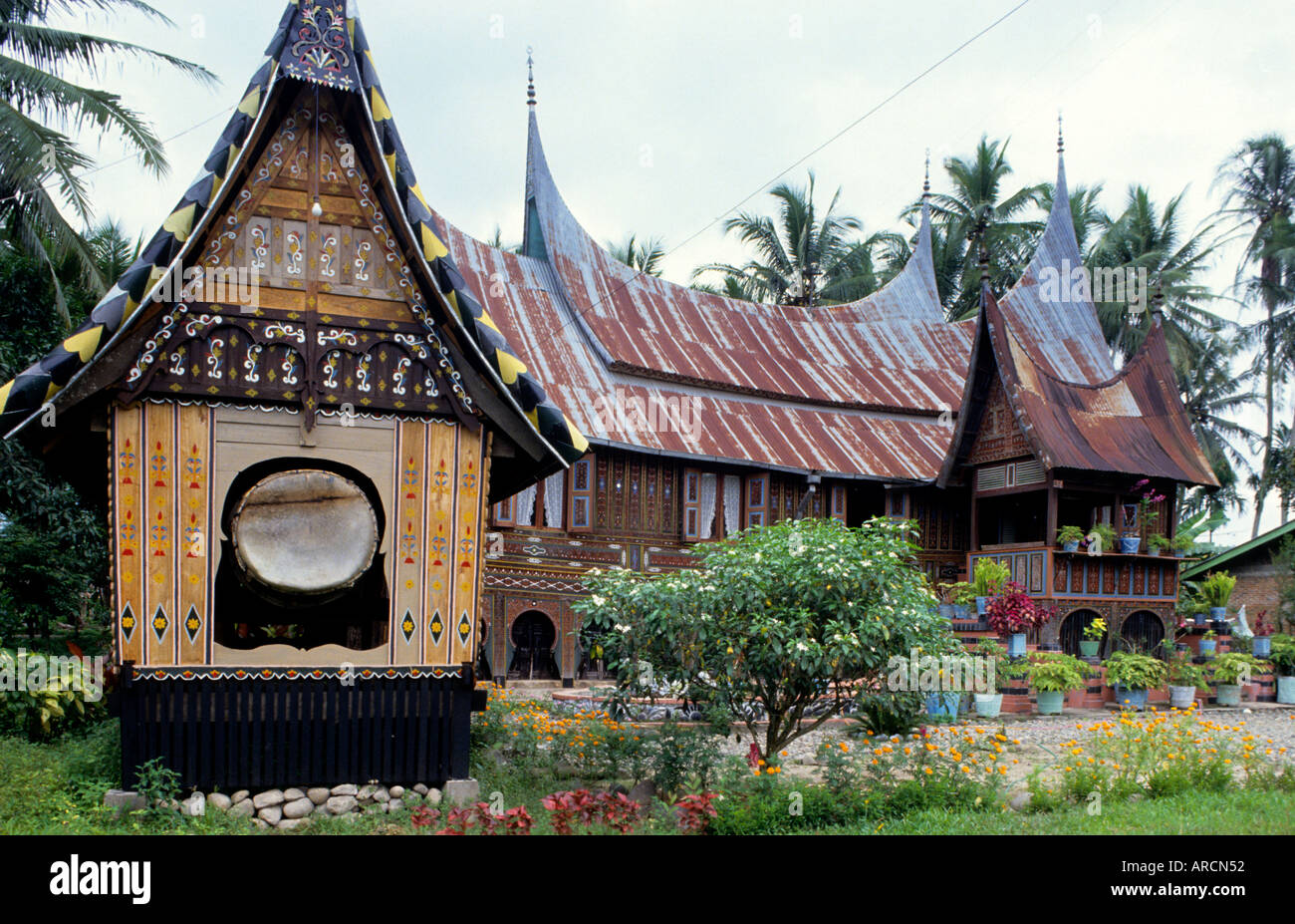 Traditional Farm House Indonesia Sumatra Minangkabau Pandai Sikek Stock Photo Alamy
