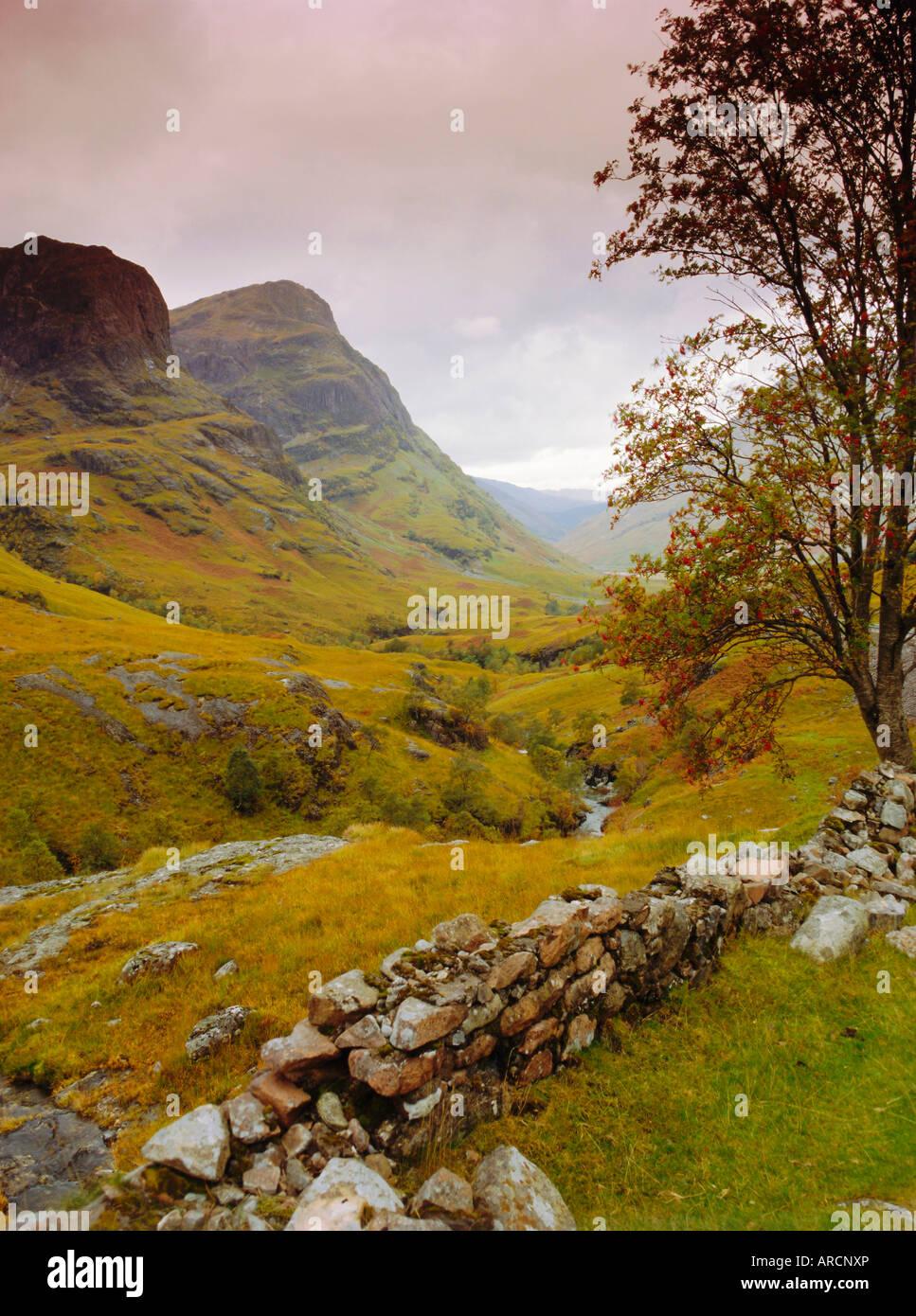 Glen Coe (Glencoe), Highlands Region, Scotland, UK, Europe - Stock Image