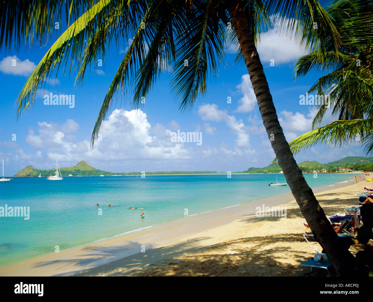Reduit Beach, St. Lucia, West Indies - Stock Image