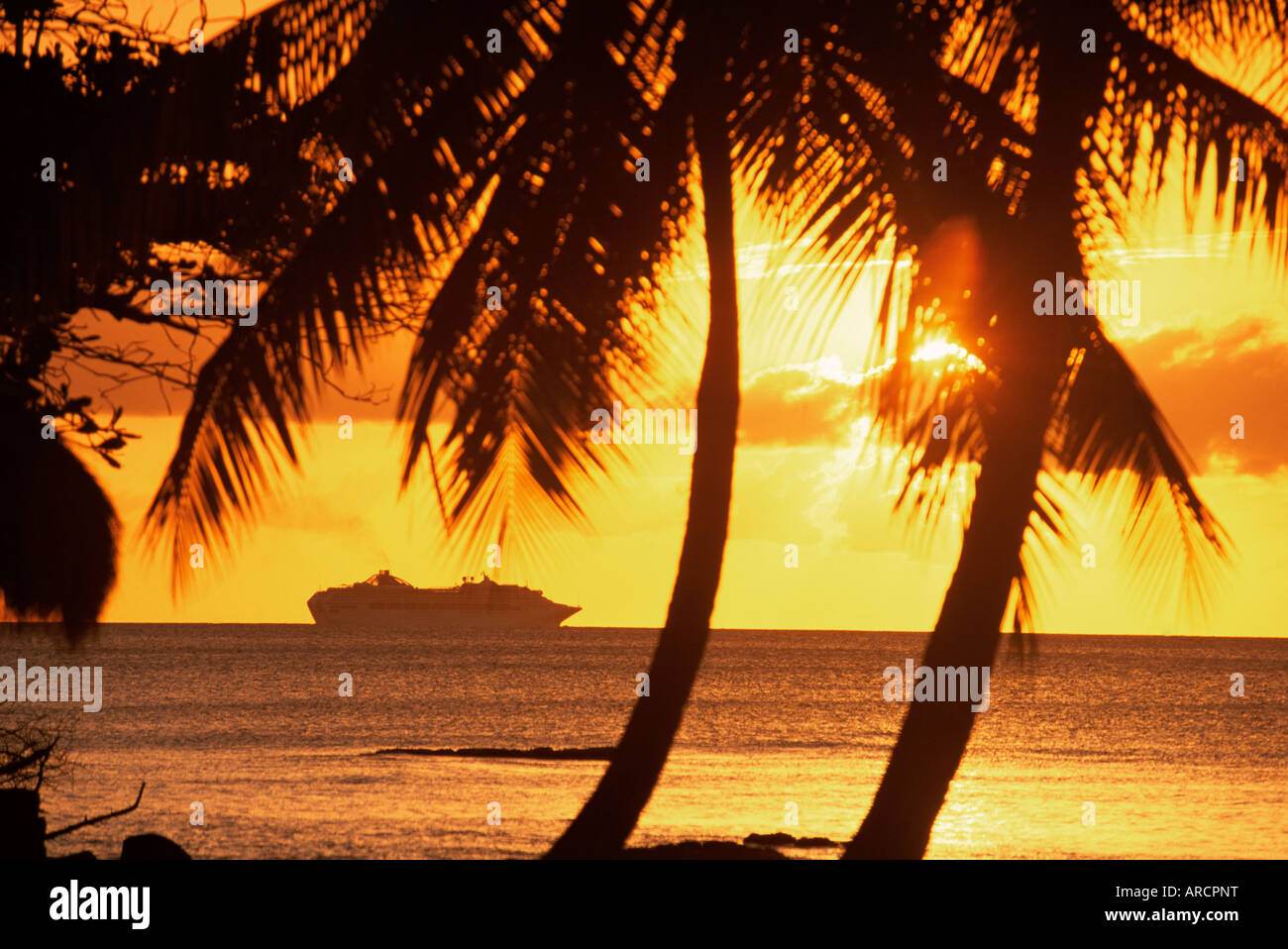Cruise Liner, Caribbean - Stock Image
