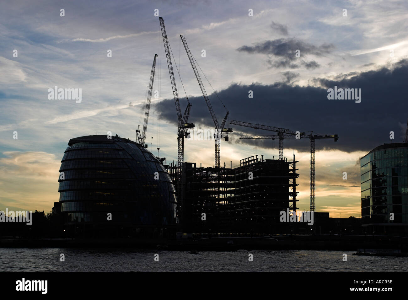 England London the London Assembly Building Site Of The London Authority Parliament Alongside River Thames Stock Photo