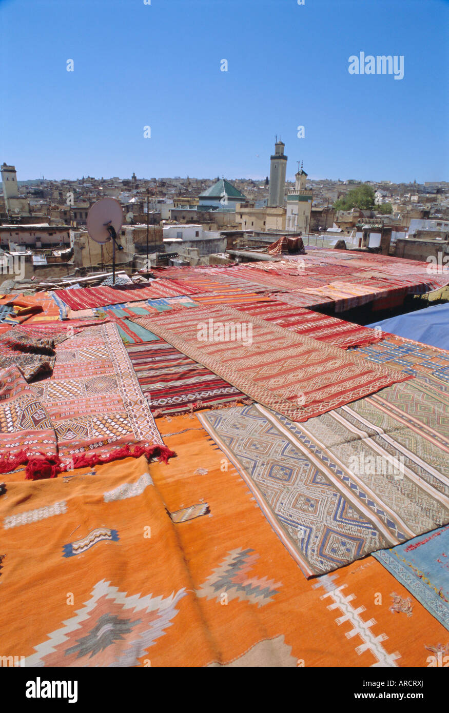 Carpet co-op in the Medina, Fez, Morocco, North Africa - Stock Image