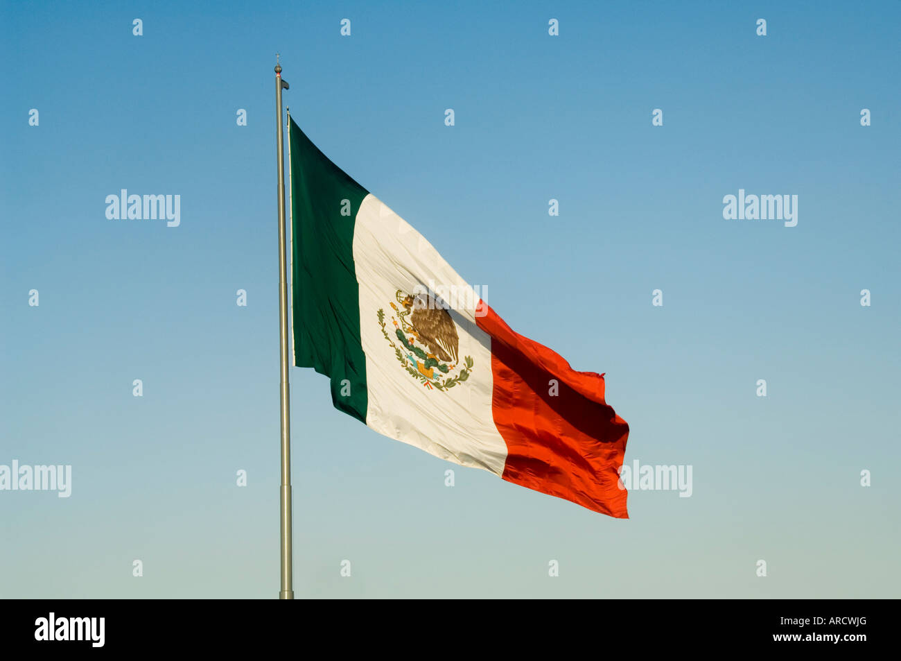 Mexican flag, Mexico, North America - Stock Image