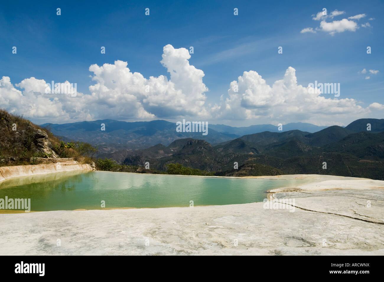Hot springs, Hierve el Agua, Oaxaca, Mexico, North America - Stock Image