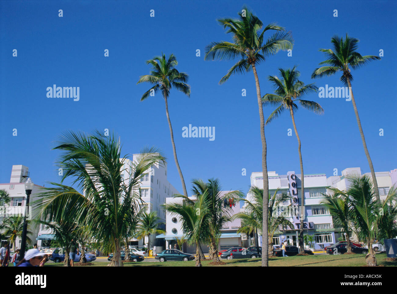 Ocean Drive, South Beach, Miami Beach, Miami, Florida, USA, North America - Stock Image